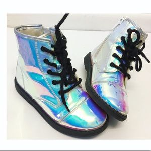 Children's Place | Iridescent Shiny Lace Up Boots